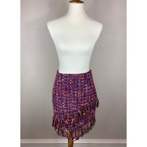 {Zara} Tweed Multicolored Skirt